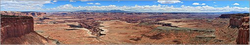 Canyonlands NP - Grand View Point en vue panoramique  (CANON 5D + EF 50mm)