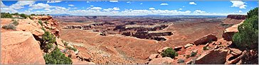 Canyonlands NP - Grand View Point en vue panoramique  (CANON 5D + EF 24mm L)