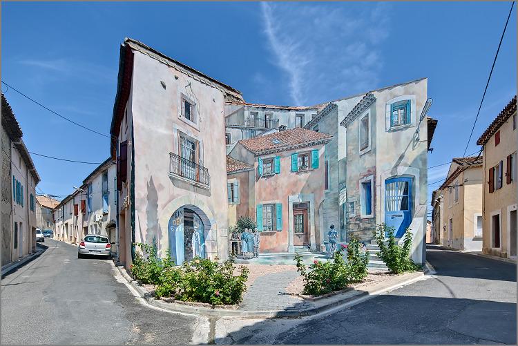 Peinture Murale Trompe L Oeil peinture murale en trompe l'oeil à capestang - 34310 hérault (canon