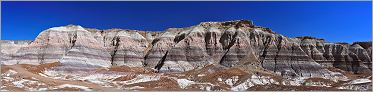 Petrified Forest National Park - Blue Mesa en vue panoramique (Ouest USA) CANON 5D + EF 50mm F1,4 USM