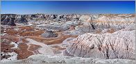 Petrified Forest National Park - Blue Mesa en vue panoramique (Ouest USA) CANON 5D + EF 24mm L F1,4 USM