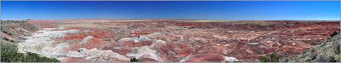 Petrified Forest National Park - Painted Desert en vue panoramique (Ouest USA) CANON 5D + EF 50mm F1,4 USM