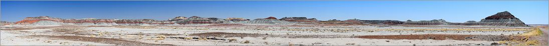Petrified Forest National Park - The Tepees en vue panoramique (Ouest USA) CANON 5D + EF 100mm macro F2,8 USM